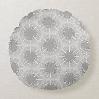 Abstract Geometric Pattern Michigan Petoskey Stone Round Pillow