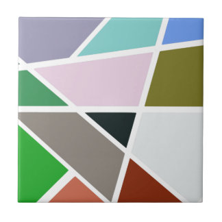 Abstract Geometric Pattern - Mid century, 1950's Ceramic Tile