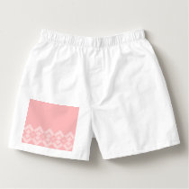Abstract geometric pattern - pink and white. boxers