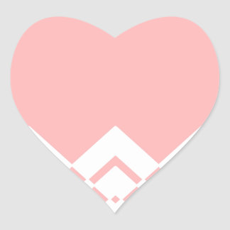 Abstract geometric pattern - pink and white. heart sticker
