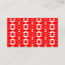 Abstract geometric pattern - red and white. business card
