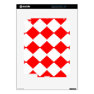 Abstract geometric pattern - red and white. iPad 2 decal