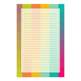 Abstract geometric pattern stationery