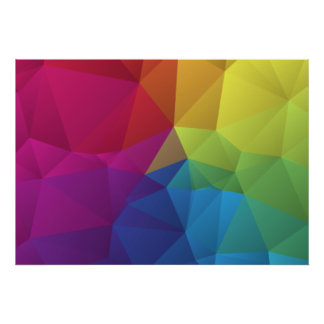 abstract geometric pattern, triangle design poster