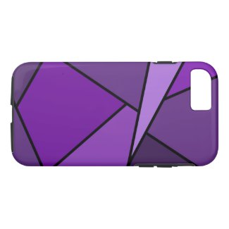 Abstract Geometric Purple Polygons