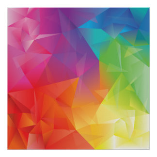 Abstract Geometric Rainbow Poster
