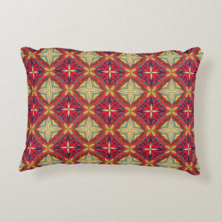 Abstract geometric retro seamless pattern accent pillow