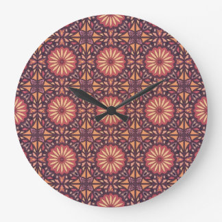 Abstract geometric retro seamless pattern large clock
