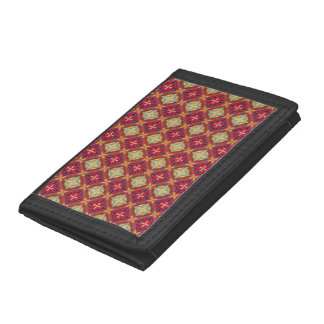 Abstract geometric retro seamless pattern trifold wallet