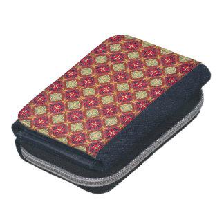 Abstract geometric retro seamless pattern wallet