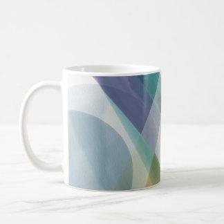 Abstract Geometric Shapes Watercolor Coffee Mug