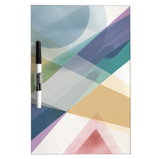 Abstract Geometric Shapes Watercolor Dry-Erase Board