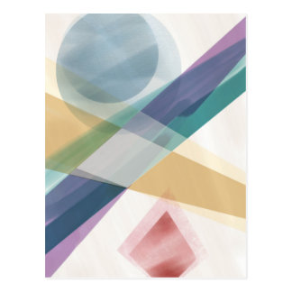 Abstract Geometric Shapes Watercolor Postcard