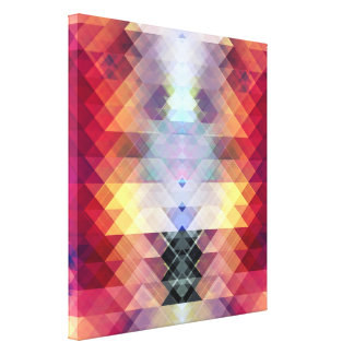 Abstract Geometric Spectrum 2 Gallery Wrapped Canvas