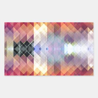 Abstract Geometric Spectrum 2 Rectangular Sticker