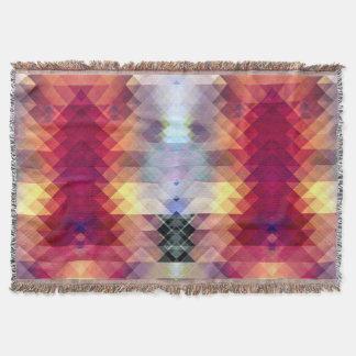 Abstract Geometric Spectrum 2 Throw Blanket