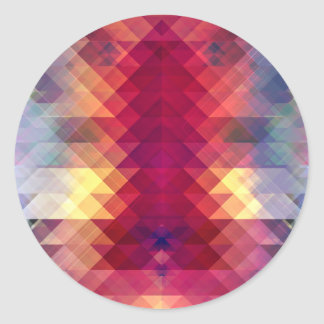 Abstract Geometric Spectrum Classic Round Sticker