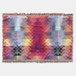 Abstract Geometric Spectrum Throw Blanket
