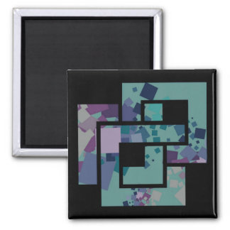 Abstract Geometric Squares Magnet