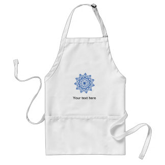 Abstract Geometric Star Design Aprons