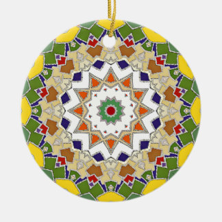 Abstract Geometric Star Design Ceramic Ornament