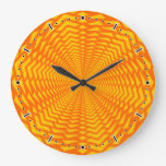 [ Thumbnail: Abstract Geometric Sun-Like Pattern Wall Clock ]