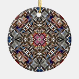 Abstract Geometric Surface Ceramic Ornament