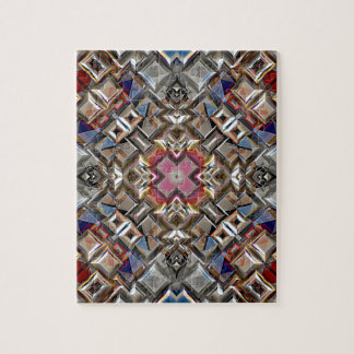 Abstract Geometric Surface Jigsaw Puzzle