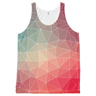 Abstract Geometric Triangulate Design All-Over-Print Tank Top