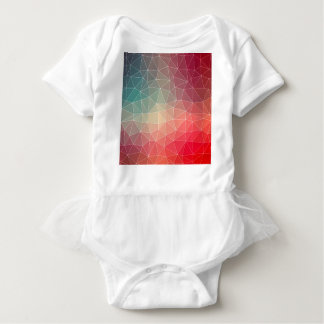 Abstract Geometric Triangulate Design Baby Bodysuit