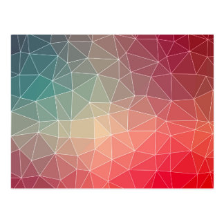 Abstract Geometric Triangulate Design Postcard