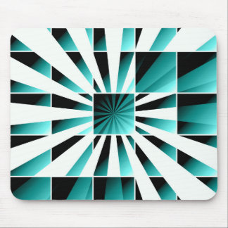 Abstract geometric turquoise mouse pad