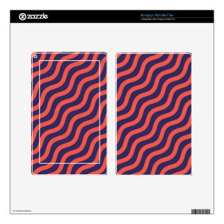 Abstract geometric wave pattern kindle fire skins