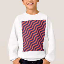 Abstract geometric wave pattern sweatshirt