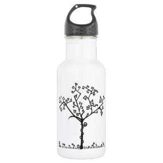 Abstract Geometric Winter Tree Water Bottle