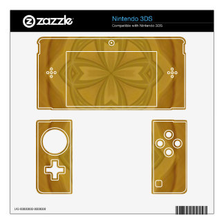 Abstract Geometric wood pattern Nintendo 3DS Decals