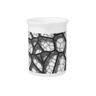Abstract geometrical science concept voronoi low p drink pitcher