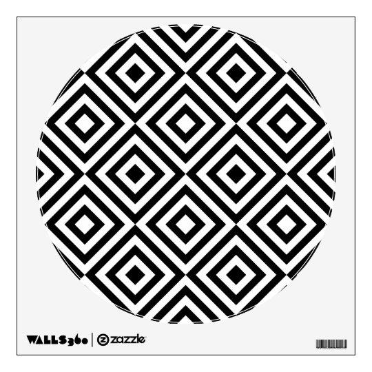 Abstract geometrical squares pattern, black white wall sticker