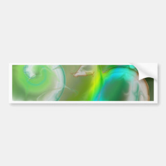 Abstract geometry green created by Tutti Bumper Sticker