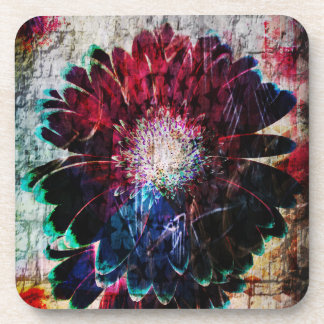 Abstract Gerbera Daisy Flowers Drink Coaster