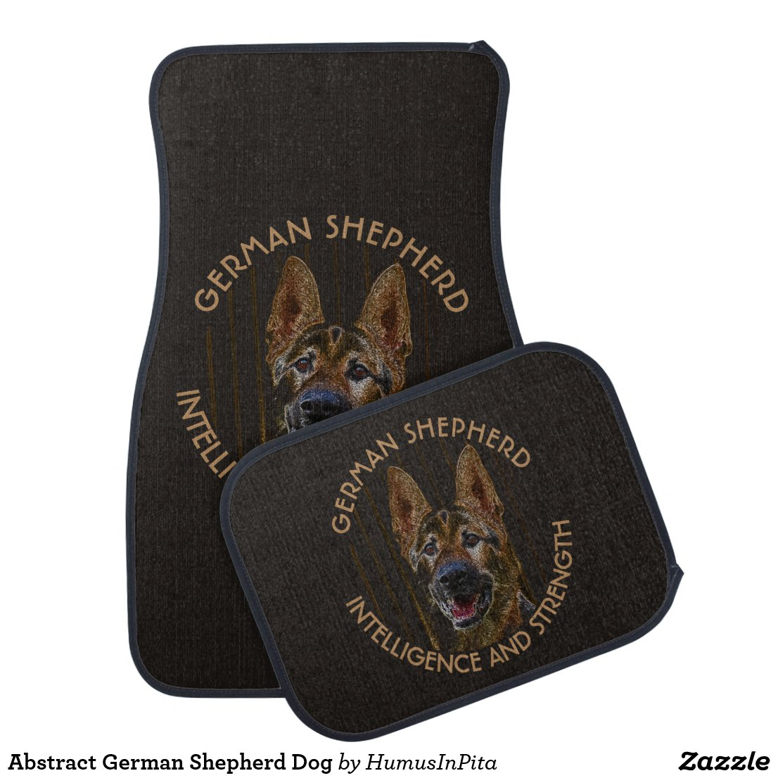 Abstract German Shepherd Dog Car Floor Mat