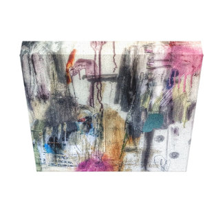 Abstract gestural urban art stretched canvas prints