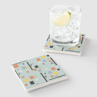 abstract stone beverage coaster