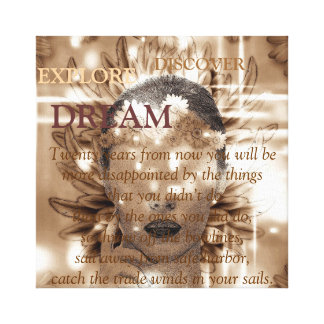 Abstract girl canvas prints