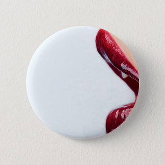 Abstract Girl Glossy Lips Pinback Button