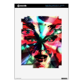 Abstract girl iPad 3 skins
