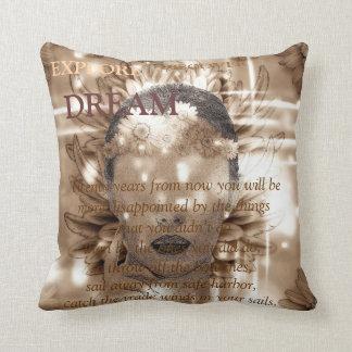Abstract girl pillow