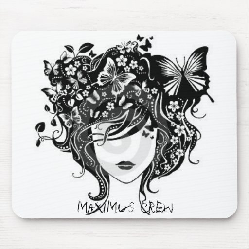 abstract-girl-with-butterflies-thumb2263934, ma... mouse pad