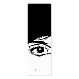 Abstract Girls Face Bookmark Double-Sided Mini Business Cards (Pack Of 20)