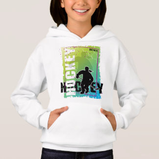 Abstract Girls Hockey Hoodie